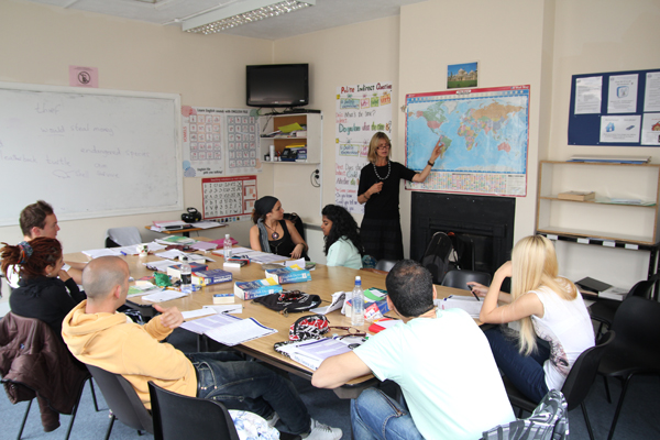 ISE Brighton students studying in English classroom